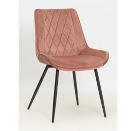 Krzesło DUBAI różowy/ noga czarna