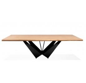 Stół SOLID 220 -  blat dąb/ noga chrom