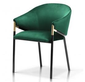 Krzesło FANCY zielony/ noga czarna