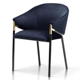 Krzesło FANCY granatowy/ noga czarna