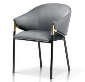 Krzesło FANCY szary/ noga czarna