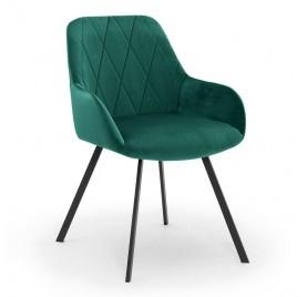 Krzesło DENVER zielony/ noga czarna