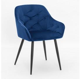 Krzesło VIENA granatowy/ noga czarna
