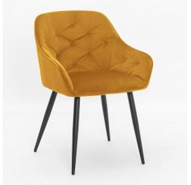 Krzesło VIENA żółty/ noga czarna