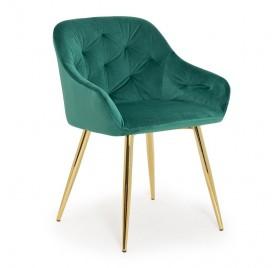 Krzesło VIENA zielony/ noga złota