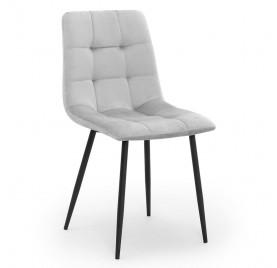 Krzesło ALEX srebrny/ noga czarna