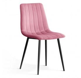 Krzesło TUX różowy/ noga czarna