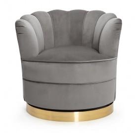 Fotel obrotowy SISI szary/ złoty