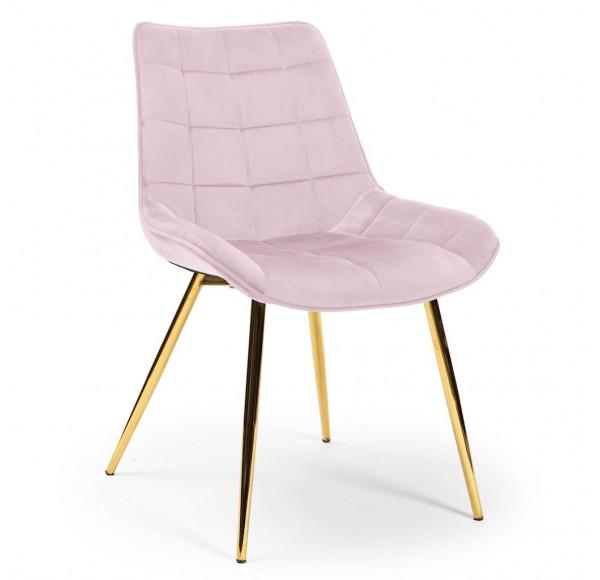 Krzesło KAIR różowy/ noga złota