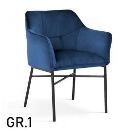 Krzesło BOSTON / noga czarna / wzornik 1