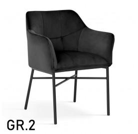 Krzesło BOSTON / noga czarna / wzornik GR. 2