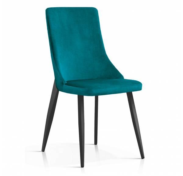 Krzesło ELIZA turkusowy [BL85], noga czarna