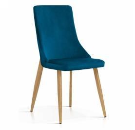 Krzesło ELIZA granatowy [BL86], noga dąb