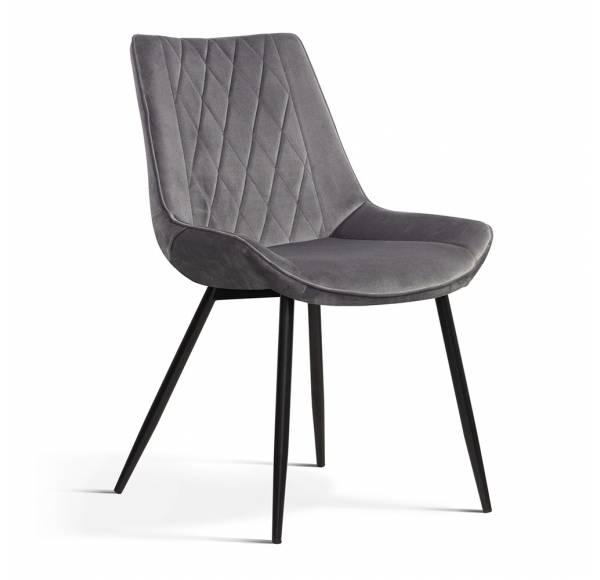 Krzesło DUBAI ciemnoszary [BL14]/ noga czarna
