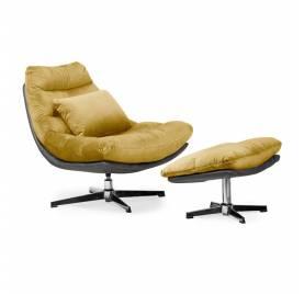 Fotel obrotowy COLORADO z podnóżkiem/ miodowy - AT