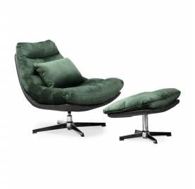 Fotel obrotowy COLORADO z podnóżkiem/ zielony - AT