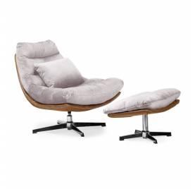 Fotel obrotowy COLORADO z podnóżkiem/ różowy - AT