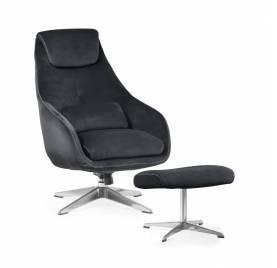 Fotel KENT z podnóżkiem/ antracyt - AT
