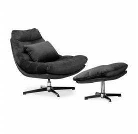 Fotel obrotowy COLORADO z podnóżkiem/ czarny - AT