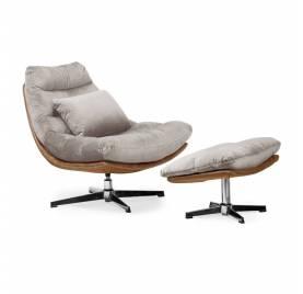 Fotel obrotowy COLORADO z podnóżkiem/ beżowy - AT