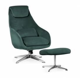 Fotel KENT z podnóżkiem/ zielony - AT