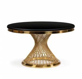 Stół ROMANCE czarny marmur/ noga złota