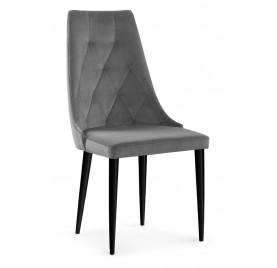 Krzesło CAREN VELVET Szare...