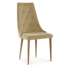 Krzesło CAREN VELVET Beżowe...